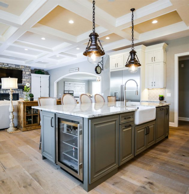 Boxwood Farm - Open space with Kitchen - J&K Custom Homes