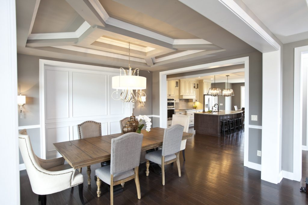 Dining Concept with Tray Ceiling - J&K Custom Homes